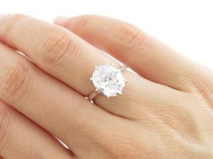 lab created diamond rings